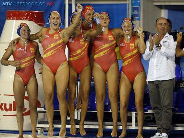 España oro waterpolo femenino