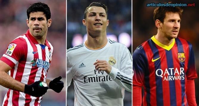 Costa, Ronaldo y Messi