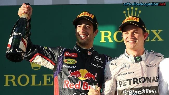 Ricciardo y Rosberg