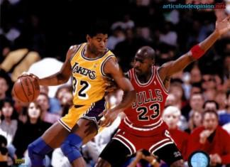 Magic Johnson y Michael Jordan