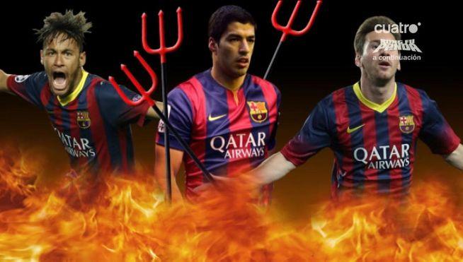 Neymar, Suárez y Messi