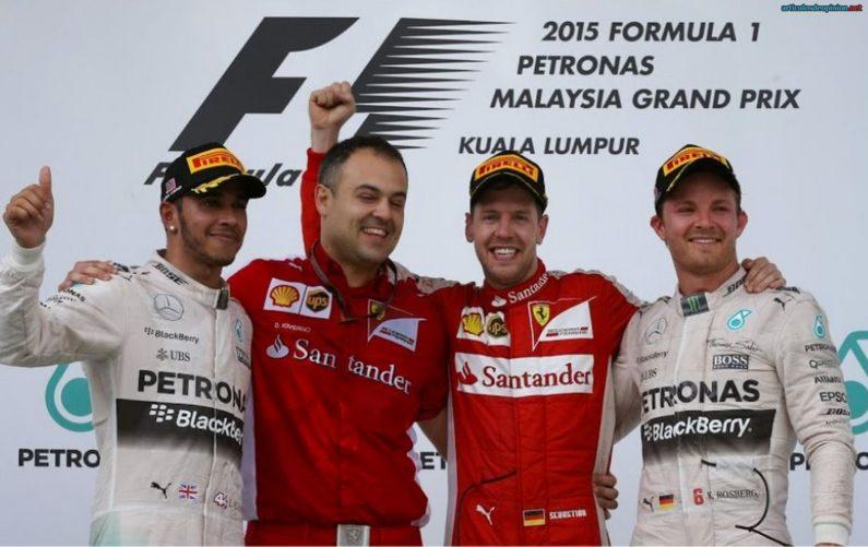 Vettel Ferrari Mercedes