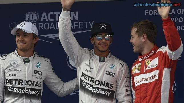Hamilton, Rosberg y Vettel