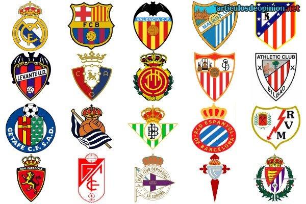 Escudos de la liga BBVA