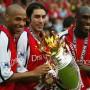 Henry, Pires y Campbel del Arsenal