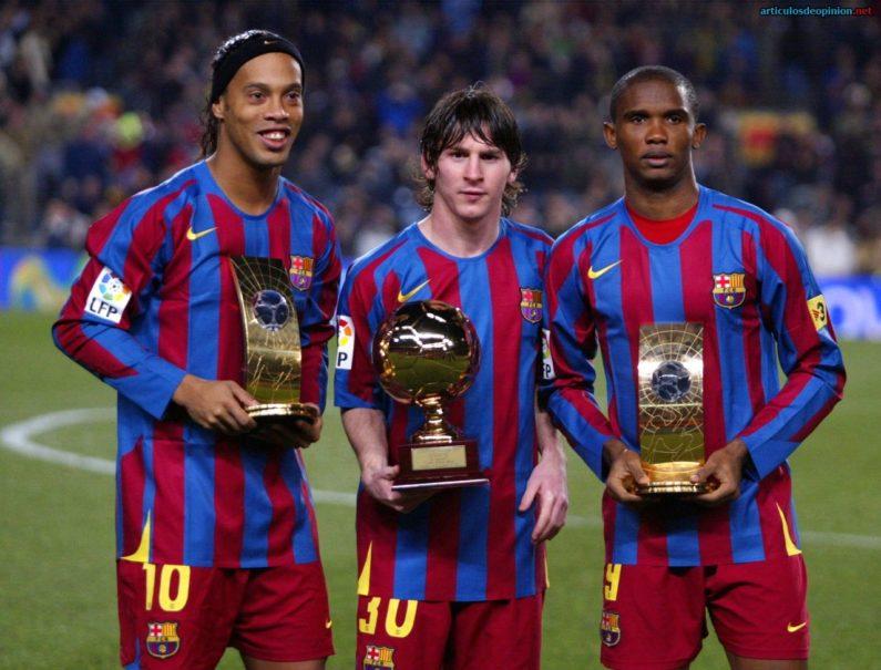 Messi Ronaldinho Eto'o