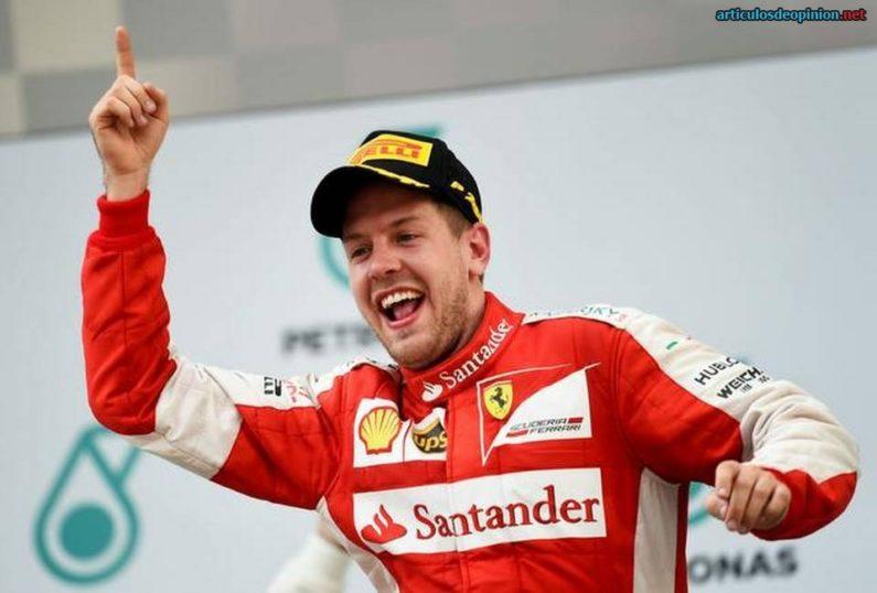 Vettel gana con Ferrari