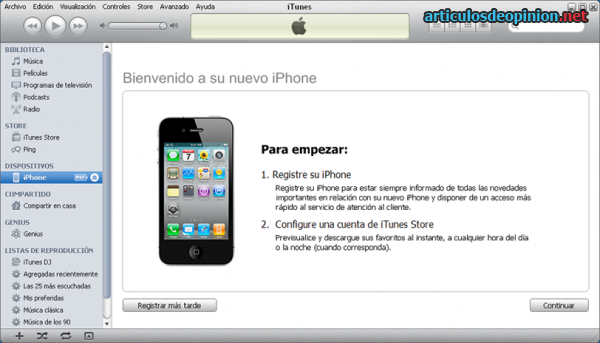 iPhone iTunes