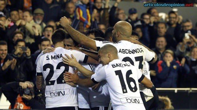 Gol de Santi MIna del Valencia