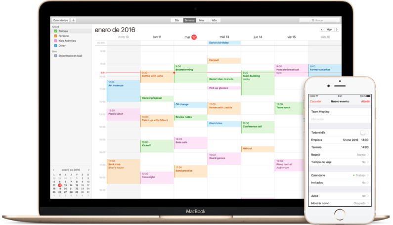 Calendario de Apple