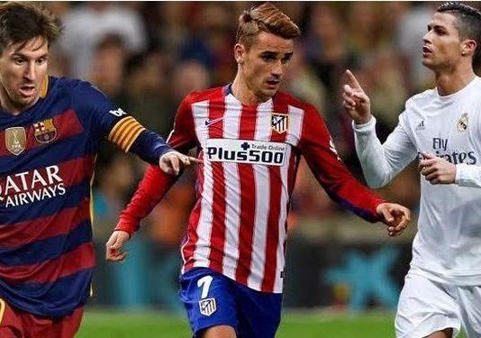 Messi, Griezmann y Cristiano