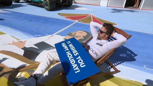 Alonso les desea felices vacaciones