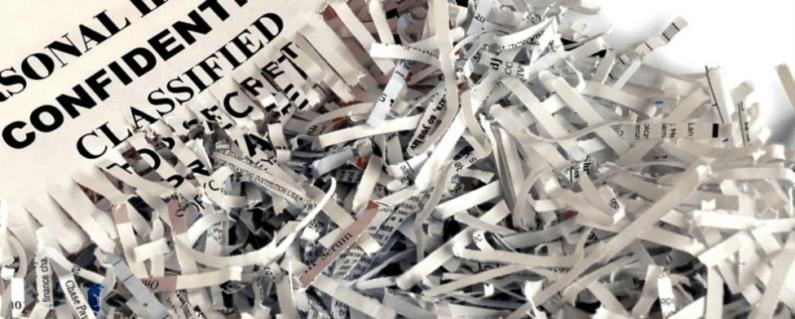 ¿Cómo destruir documentos de forma segura?