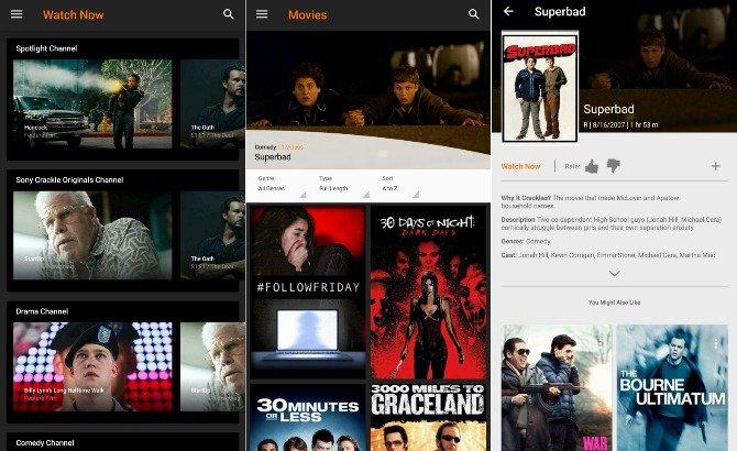 Sony Crackle - Apps para ver películas