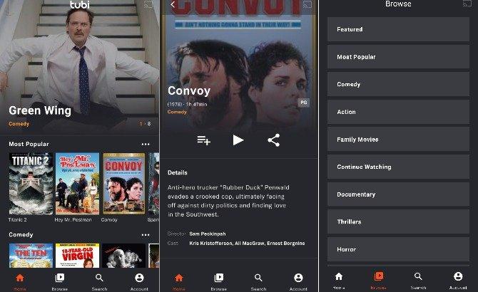 Tubi - Apps para ver películas